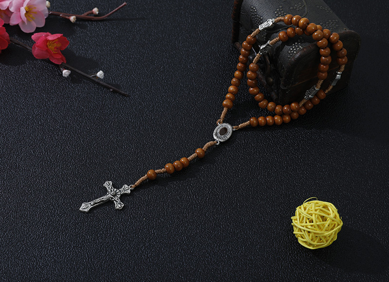 6-7mm light brown rosary