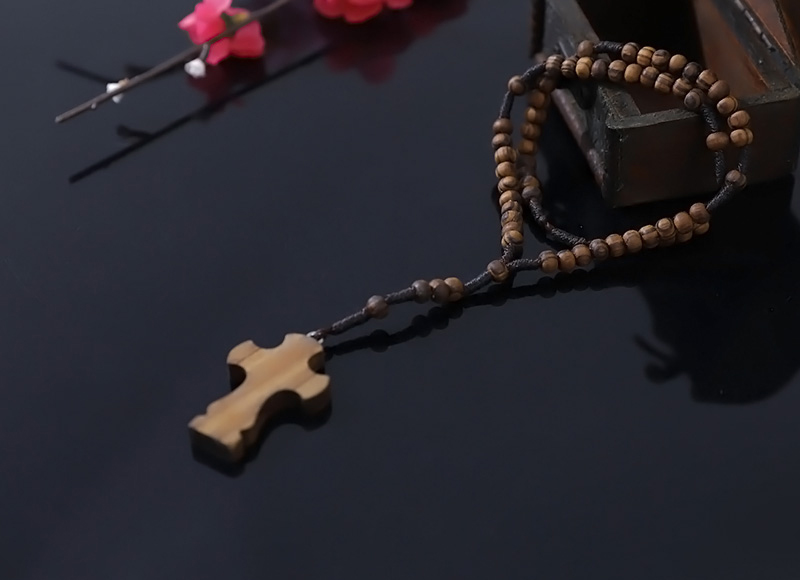 5-6mm olive wood rosary