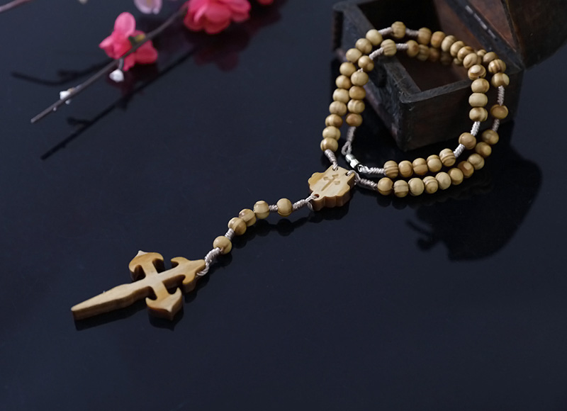 6-7mm olive wood rosary with closer