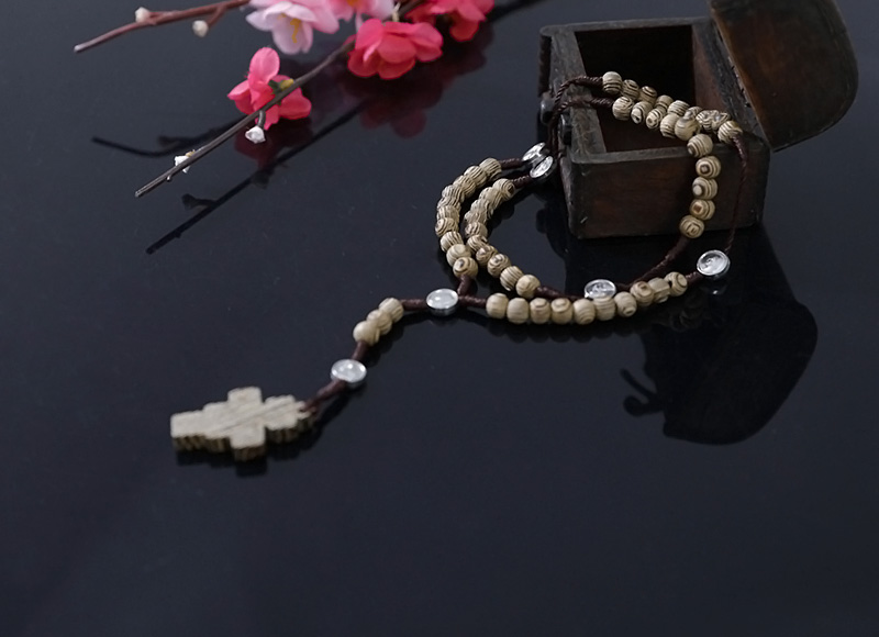 6-7mm wood rosary