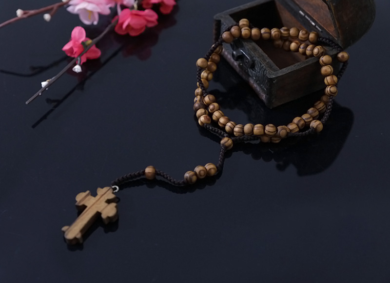 7-8mm knotted olive wood rosary