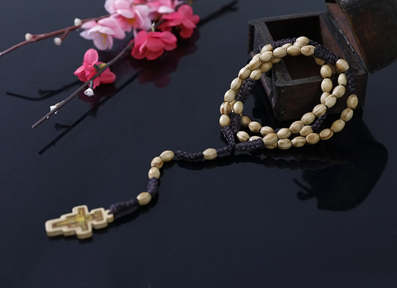 8-6mm olive wood rosary