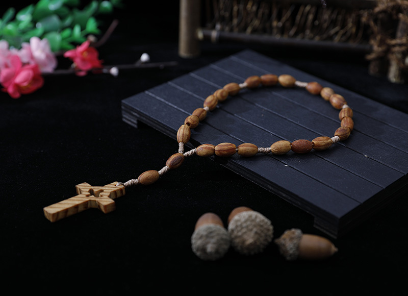 8-6mm wood finger rosary