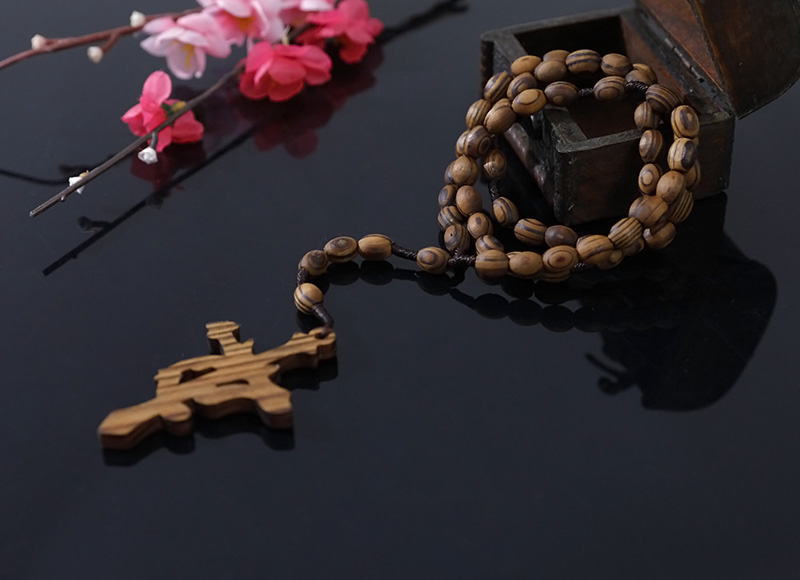 10-8mm olive wood rosary