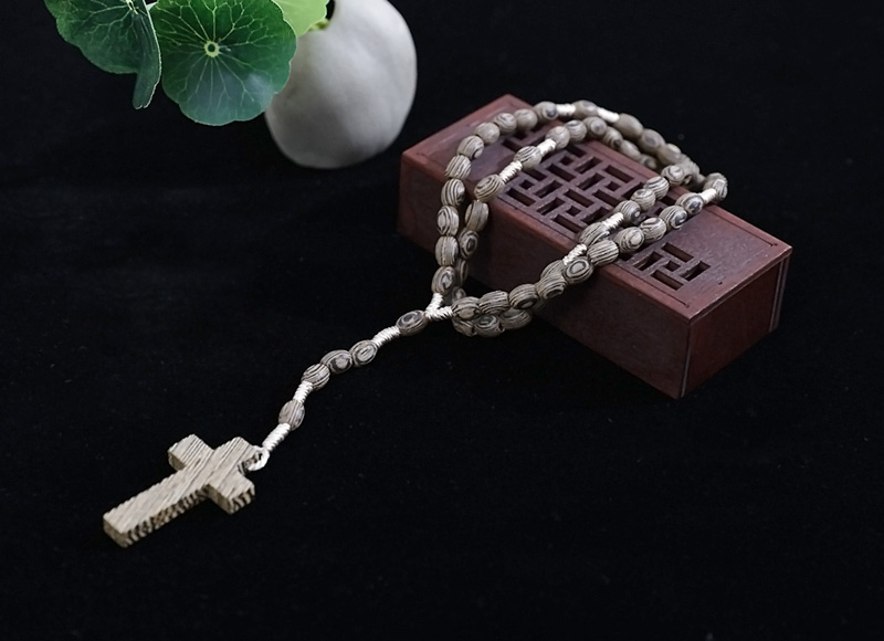 10-8mm wood rosary