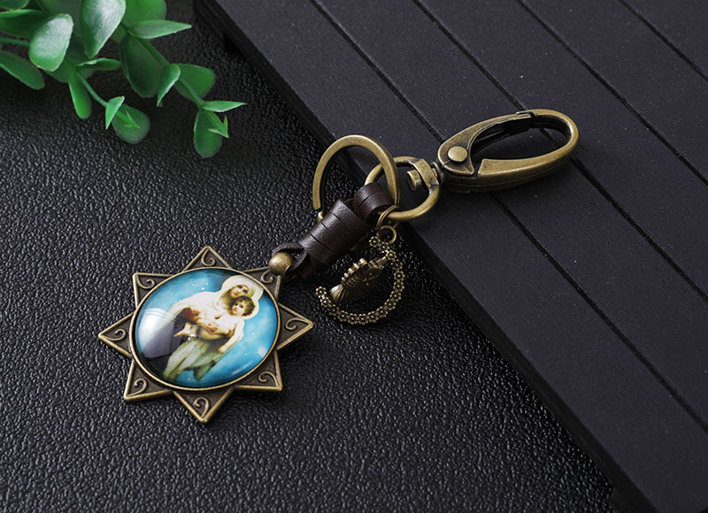 Star shape alloy keychain