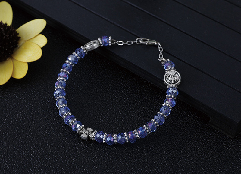 6mm crystal beads bracelet