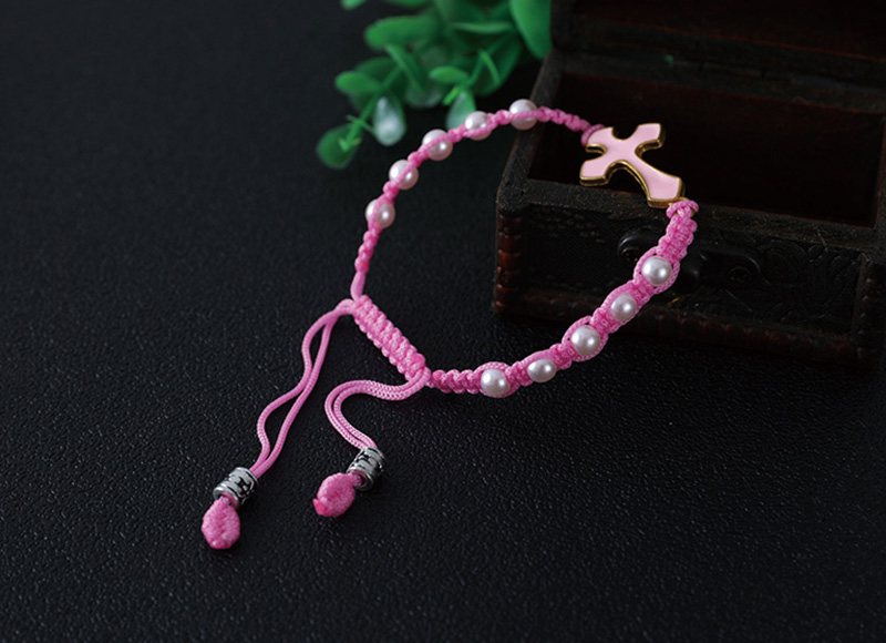 6mm imitation pearl beads knotted bracelet
