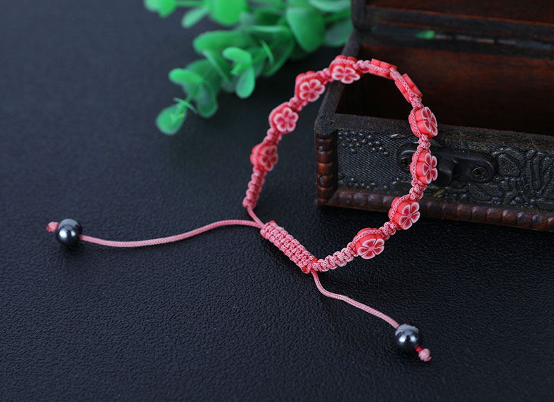 8mm soft ceramic beads knotted bracelet
