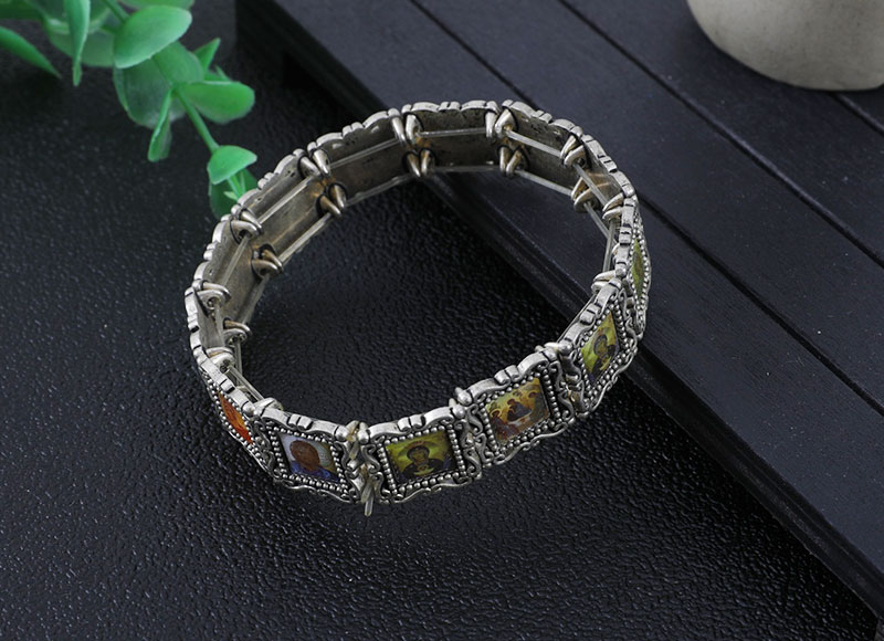15mm alloy epoxy beads bracelet