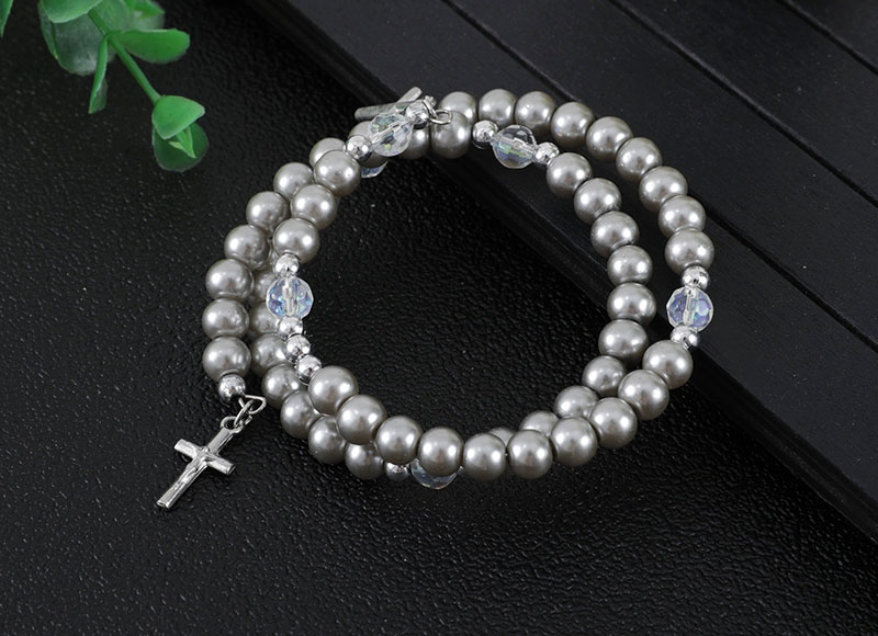 Imitation pearl beads bracelet