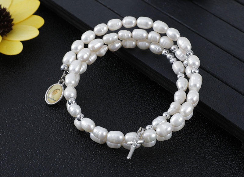 Shell shape pearl beads bracelet