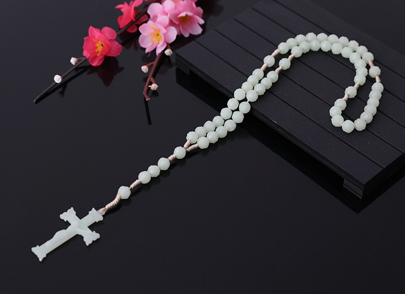 7x8mm Plastic Flourescence Beads Rosary