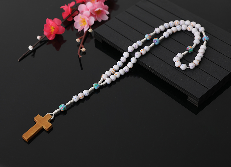 7x8mm Resin Beads Cartoon Cross Rosary