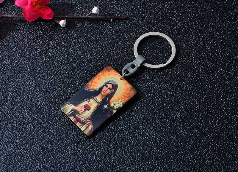 Religious Square Keychain Key ring