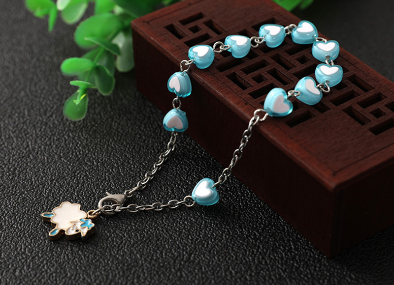 Blue heart shape bracelet