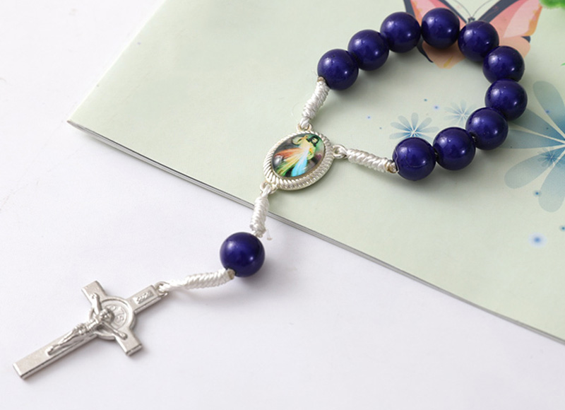 8mm plastic  beads rosary