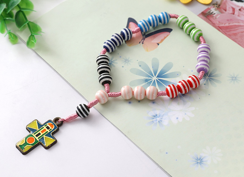 Plastic beads colorful finger rosary