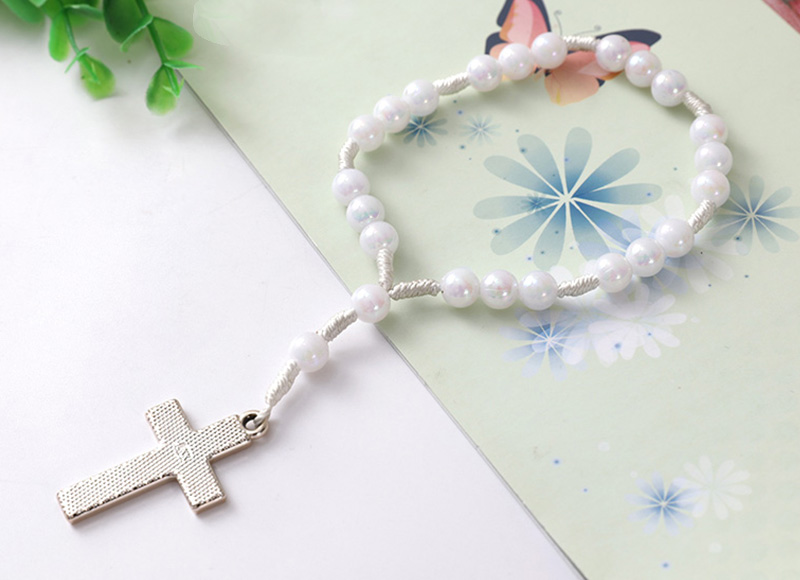 White wood rosary