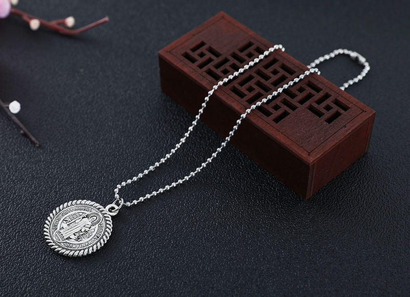 Saint Benedict pendant alloy necklace