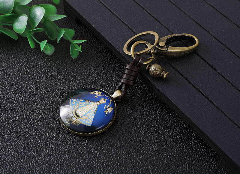 32MM alloy pendant keychain