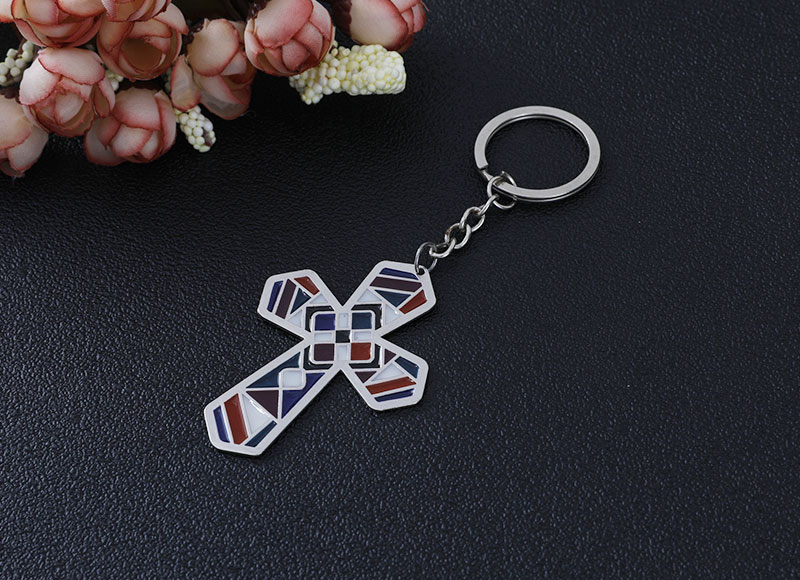 Alloy cross pendant keychain