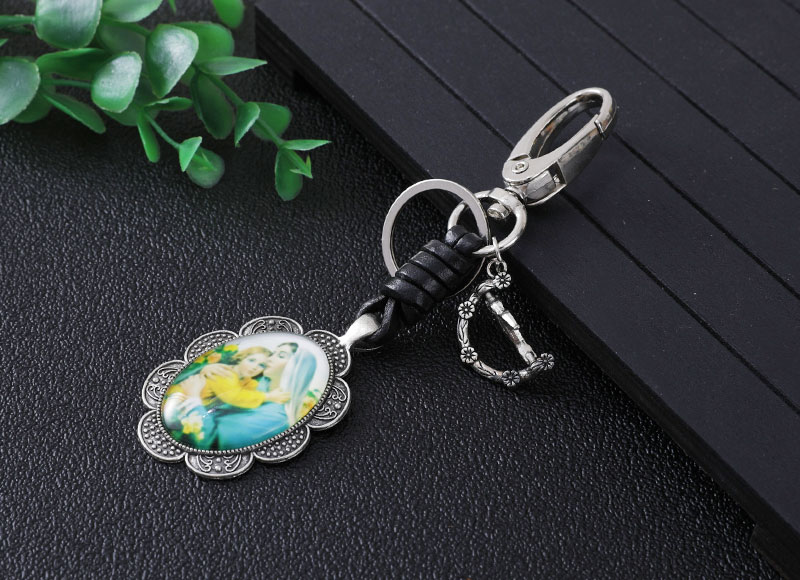 Flower shape keychain