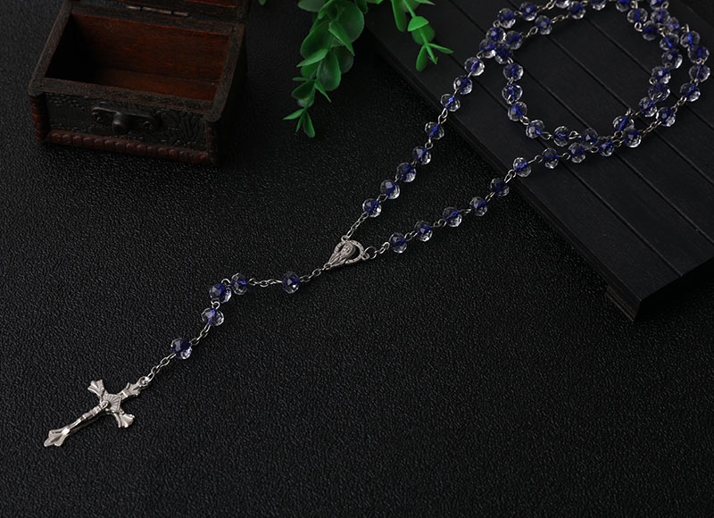 6mm Crystal Beads Chain Necklace Rosary