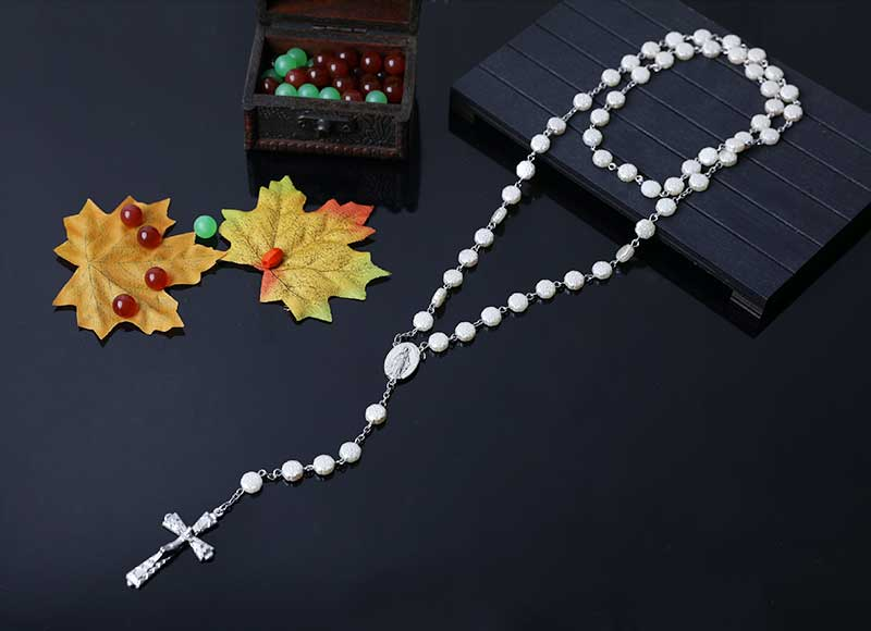 6mm plastic beads catholic chain rosary