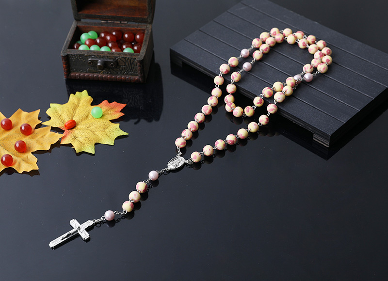 8mm soft ceramic round beads chain rosary