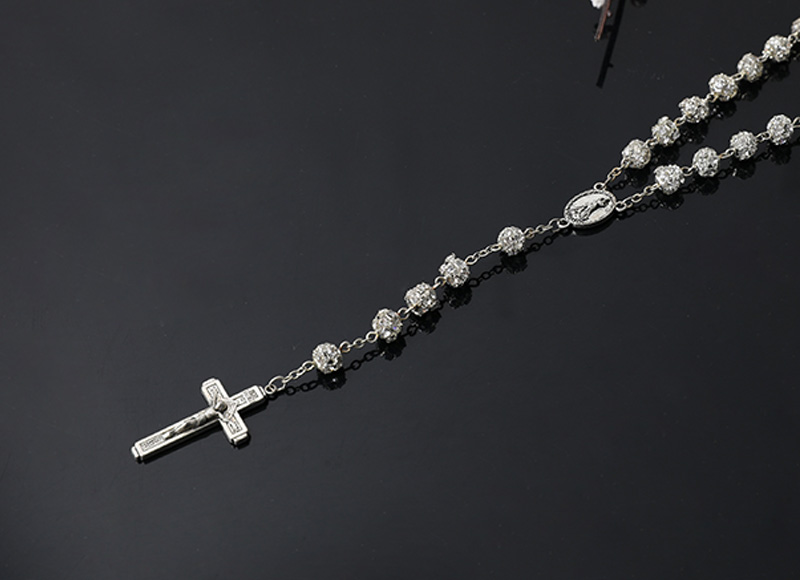 alloy beads with diamond necklace