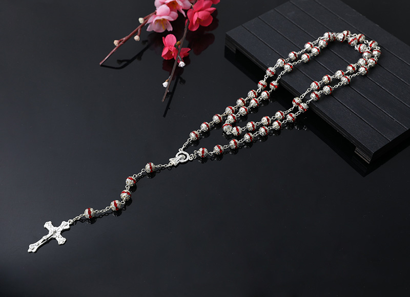 red alloy beads chain rosary