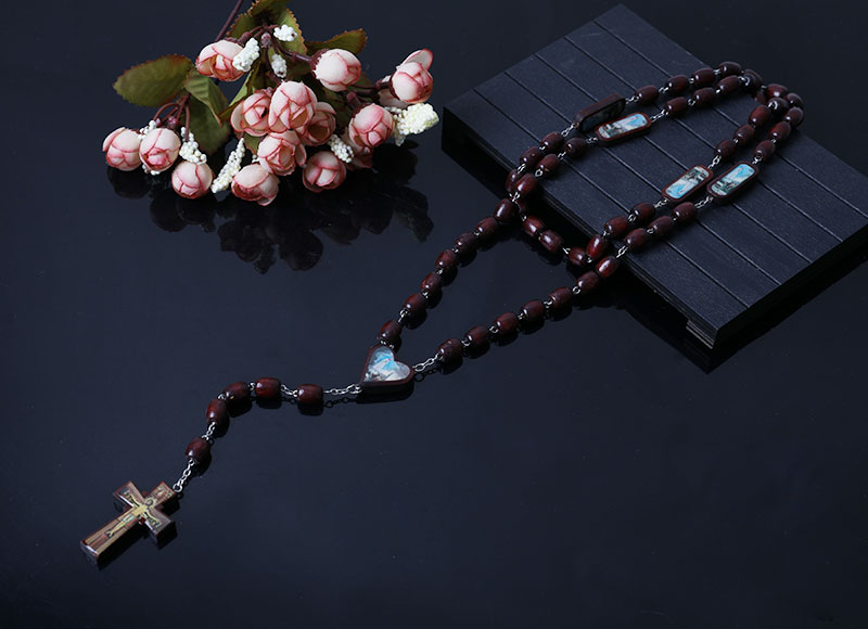 10-8mm wood beads rosary