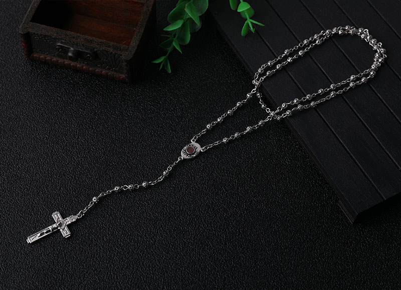 4mm Alloy Beads Necklace Chain  Rosary