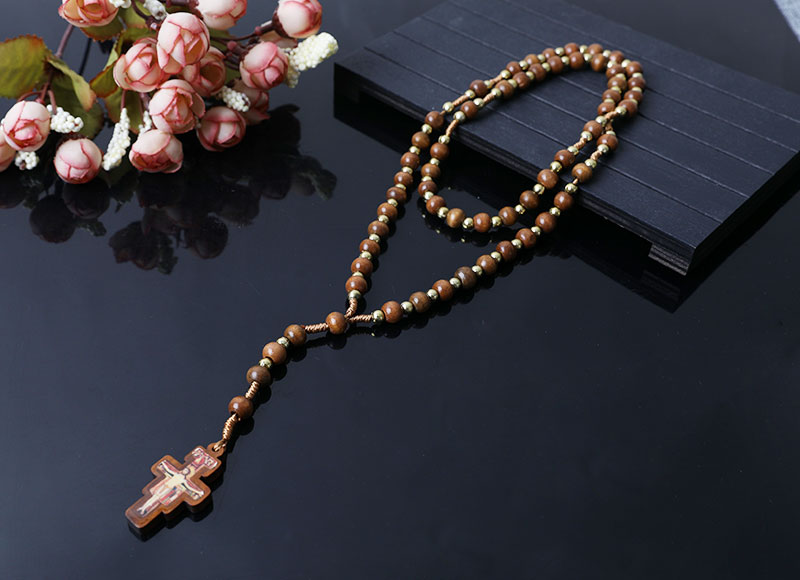 new design brown wood beads rosary